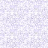 Thin Line Baby White Seamless Pattern