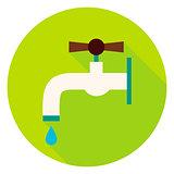 Water Tap Circle Icon
