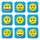 Yellow Smiley Faces Squared App Icon Set