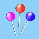 Lollipop candy, icon, flat design. vector illustration