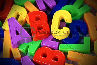 ABC - Colorful Magnetic Letters