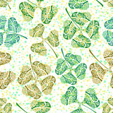 Seamless Tile Ornament, Clover Plants