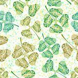 Seamless Tile Ornament, Clover Plants