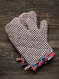 rustic kitchen oven baking mitten glove