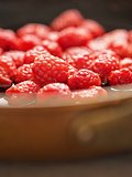 rustic french raspberry fruit compote preserve