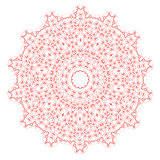 Red Mandala Isolated