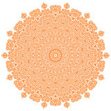 Orange Mandala Isolated