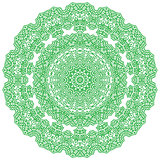 Green Mandala Isolated