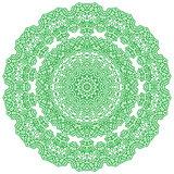 Green Mandala Isolated