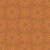 Seamless Texture on Orange. Element for Design.
