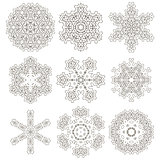 Round Geometric Ornaments Set Isolated