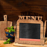 Blackboard Menu in the Kitchen