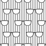 Pop sunglasses retro seamless pattern in grey and white.