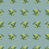 flying green dinosaurs