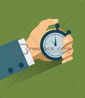 Time management. Vector modern illustration
