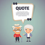 Quote Speech Banner and Elderly Couple