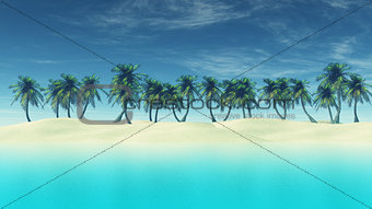 3D render of tropical landscape