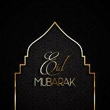 Stylish Eid mubarak background 0606