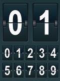 Set Numbers for sports scoreboard