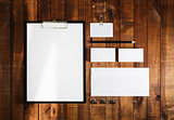 Blank business brand template