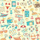 Vacation and Tourism Seamless Pattern