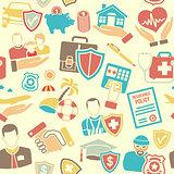 Insurance Seamless Pattern