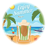 Vacation and Summer Card Concept