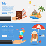 Vacation and Trip Banners