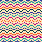 Colorful seamless wavy line pattern