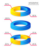 Creative vector pie chart infographics