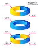 Creative vector pie chart infographics