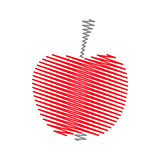 Red abstract striped apple