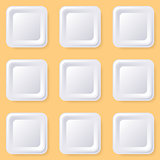 Retro vector blank square buttons