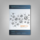 Brochures book or flyer with connection design template
