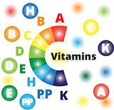 Vector colorful vitamins
