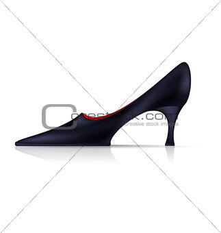 abstract black shoe