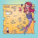 A Mermaid and Treasure Map