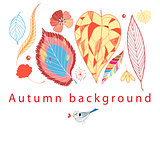 Autumn graphic background