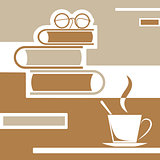 reading books with coffee