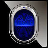 Black Fingerprint scanner