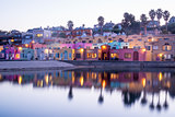 Dusk over Capitola Village. Capitola, Santa Cruz County, California, USA