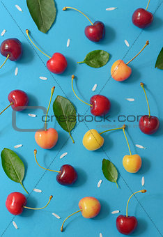 Abstract cherry isolated