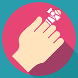 Bandage on finger flat icon