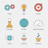 Business creative color line icons