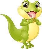 beautiful green lizard