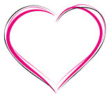 Heart symbol of love. Sign of heart outline. Heart for greeting card for Valentines Day