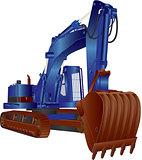 Blue Excavator