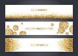 Abstract gold banner templates