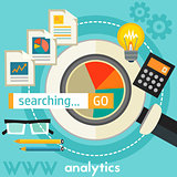 Searching Analytics Concept