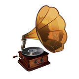 Gramophone Vector Illustration
